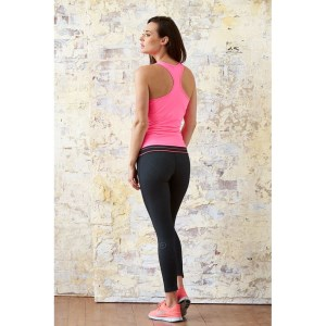 Bayse Studio Colour Flash Womens Training Tights - Black/Pink