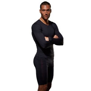 Bayse Compression Mens Long Sleeve Training Top - Black