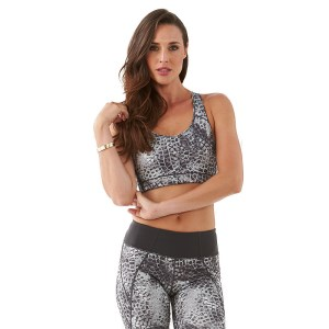 Bayse Snake Print Womens Sports Bra Crop