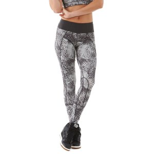 Bayse Snake Print Full Length Womens Training Tights